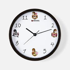 Kawaii Ferrets Wall Clock