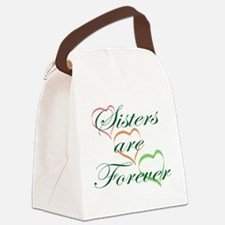 Sisters Are Forever Canvas Lunch Bag