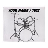 Drummer Fleece Blankets