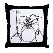 Drum Set Throw Pillow