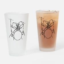 Drum Set Drinking Glass