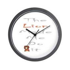 Blame the lion Wall Clock