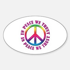 In Peace We Trust Decal
