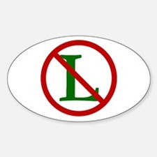 NOEL (NO L Sign) Oval Decal