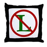 NOEL (NO L Sign) Throw Pillow