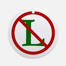 NOEL (NO L Sign) Ornament (Round)