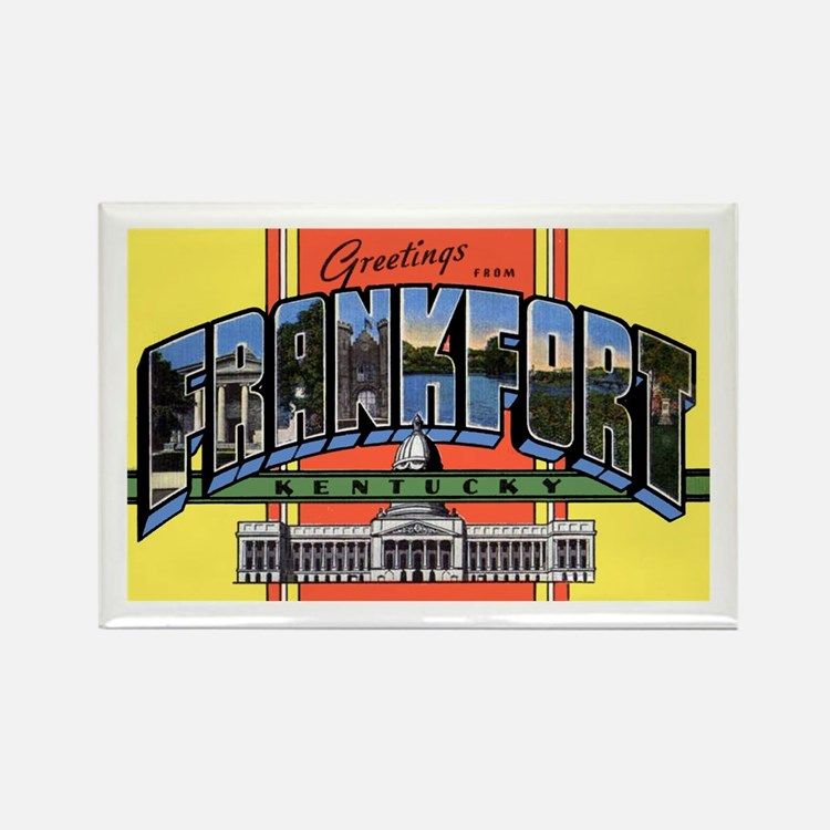 Frankfort Kentucky Greetings Rectangle Magnet
