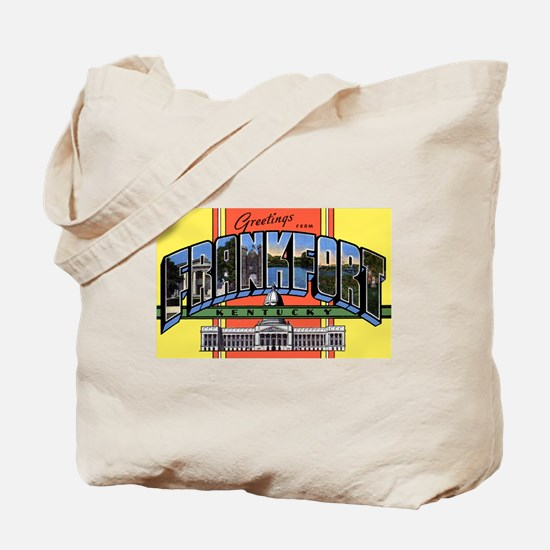 Frankfort Kentucky Greetings Tote Bag