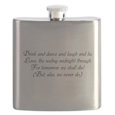 Dorothy Parker Death and Taxes Flask