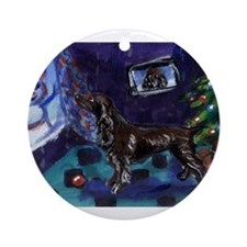 field spaniel Christmas Ornament (Round)