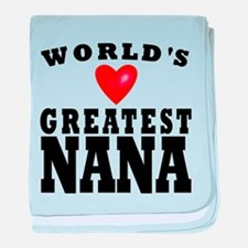 Worlds Greatest Nana baby blanket
