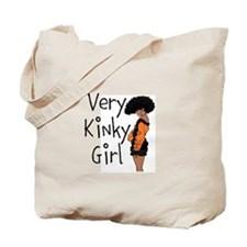 Very Kinky Girl Tote Bag