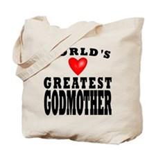 Worlds Greatest Godmother Tote Bag