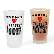 Worlds Greatest Godmother Drinking Glass