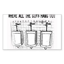 Urinals - Where All the Guys Hang Out Decal