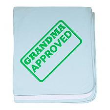 Grandma Approved (Green) baby blanket
