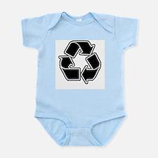 Graphic Recycle Symbol: Black Infant Bodysuit