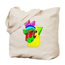 A Friendly Space Man Bearing Gifts Tote Bag