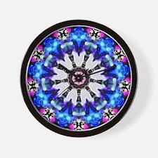 Blue Pink Spiky Star Kaleidoscope Mandala Wall Clo