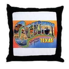 Galveston Texas Greetings Throw Pillow