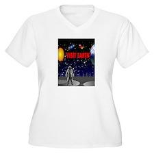 Visit Earth Spaceman Plus Size T-Shirt
