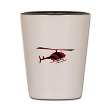 Helicopter Shot Glass