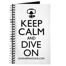 Keep Calm Dive On Journal