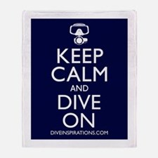 Keep Calm Dive On Throw Blanket