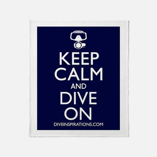 Keep Calm Dive On Throw Blanket