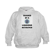 Trained by a Lab Hoodie