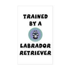 Trained by a Lab Rectangle Decal