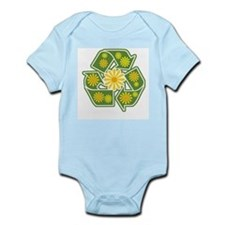Floral Recycle Sign Infant Bodysuit