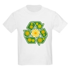 Floral Recycle Sign Kids T-Shirt