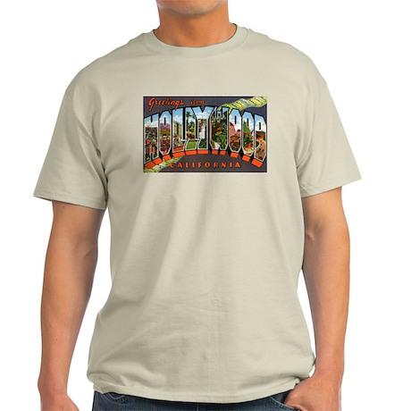 Hollywood California Greetings Ash Grey T-Shirt