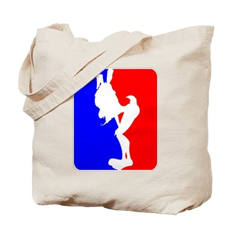 Red & Blue Sporty Omaha Hare Tote Bag