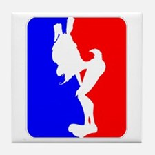 Red & Blue Sporty Omaha Hare Tile Coaster