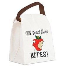 Child Sexual Abuse Bites Canvas Lunch Bag