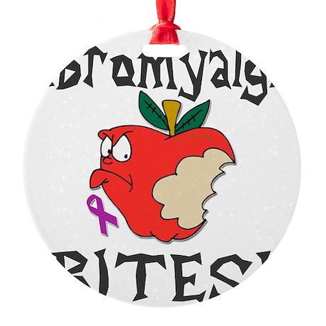 Fibromyalgia Bites Round Ornament