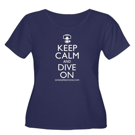 Keep Calm Dive On Women's Plus Size Scoop Neck Dar