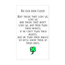 IRISH CURSE Rectangle Decal