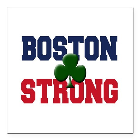 "Boston Strong Square Car Magnet 3"" x 3"""