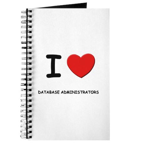 I love database administrators Journal