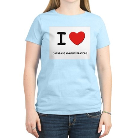 I love database administrators Women's Pink T-Shir