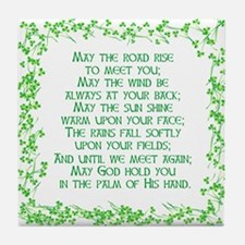 IRISH BLESSING Tile Coaster