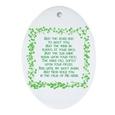IRISH BLESSING Oval Ornament