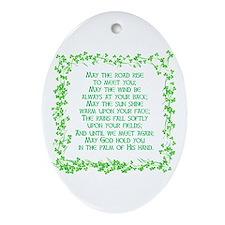 IRISH BLESSING Oval Ornament