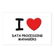 I love data processing managers Postcards (Package