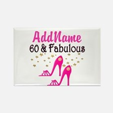 60 YR OLD SHOE QUEEN Rectangle Magnet