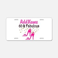 60 YR OLD SHOE QUEEN Aluminum License Plate