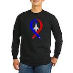 Peace Ribbon (Patriotic) Long Sleeve Dark T-Shirt